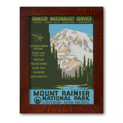 MOUNT RAINIER NATIONAL PARK, Reproduction WPA Poster - Product Image