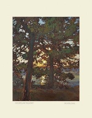Shoreline Sunset, by Jan Schmuckal - Product Image