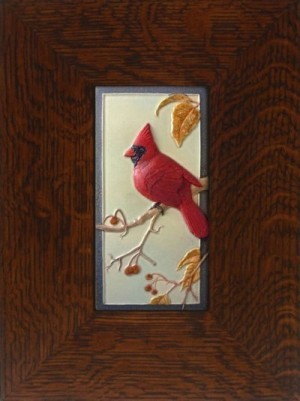 "NEW! ""Cardinal"" 4x8 tile, by artist John Beasley - Product Image"