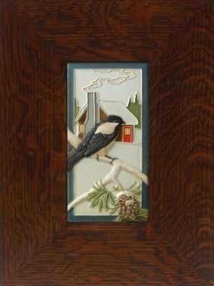 """Chickadee"" 4x8 tile, by artist John Beasley - Product Image"