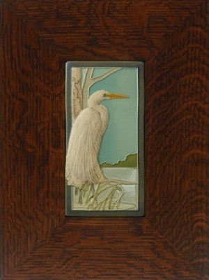 "NEW! ""Great White Egret"" 4x8 tile, by artist John Beasley - Product Image"