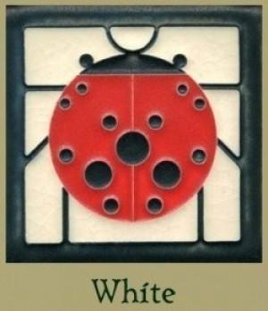 "Ladybug with Border 4"" x 4"" tile - Product Image"
