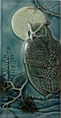 "NEW! ""Night Owl"" 4x8 tile, by artist John Beasley - Product Image"