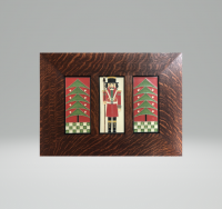 """New! Dard Hunter Trees & Nutcracker Trio in """"Red"""" - Product Image"""