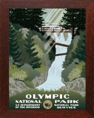 Olympic National Park, WPA National Park Poster - Product Image