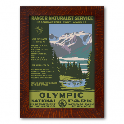 Olympic National Park, Reproduction WPA Poster - Product Image