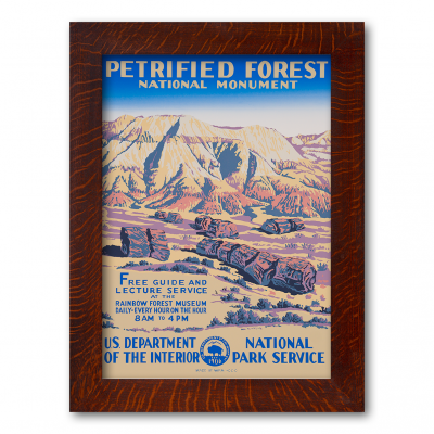 PETRIFIED FOREST NATIONAL MONUMENT, Reproduction WPA Poster - Product Image