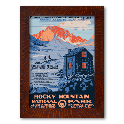 ROCKY MOUNTAIN NATIONAL PARK, A Poster in the WPA tradition - Product Image