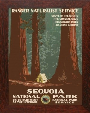 SEQUOIA NATIONAL PARK, WPA National Park Poster - Product Image