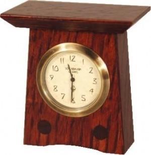 Arts and Crafts Style Mini Mantel Clocks - Product Image