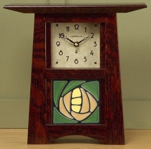 Schlabaugh Clock with 4x4 Tile - Product Image