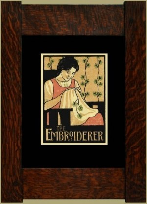 The Embroiderer, Laura Wilder's Signed Mini-giclee - Product Image