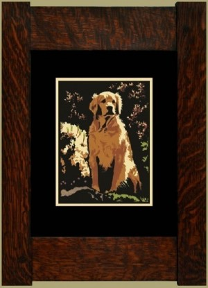 The Golden Retriever, Laura Wilder's Signed Mini-giclee - Product Image