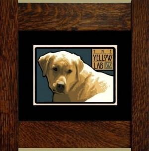 The Yellow Lab, Laura Wilder's Signed Mini-giclee - Product Image