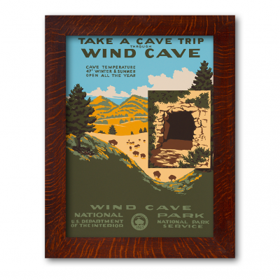 WIND CAVE NATIONAL PARK, Reproduction WPA Poster - Product Image