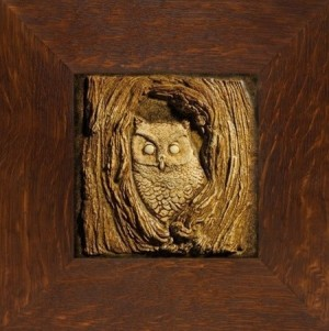 "Weaver 8"" Owl Tile - Product Image"