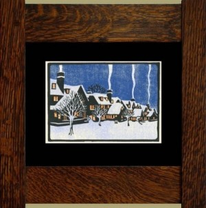 Winter in Montreal, Laura Wilder's Signed Mini-giclee - Product Image