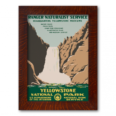 YELLOWSTONE NATIONAL PARK FALLS, Reproduction WPA Poster - Product Image