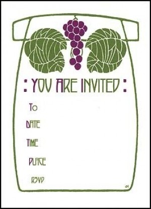 Letterpress Grape Cluster Invitation - Product Image